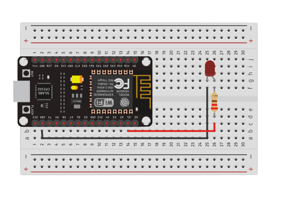 ESP8266 LED circuit diagram